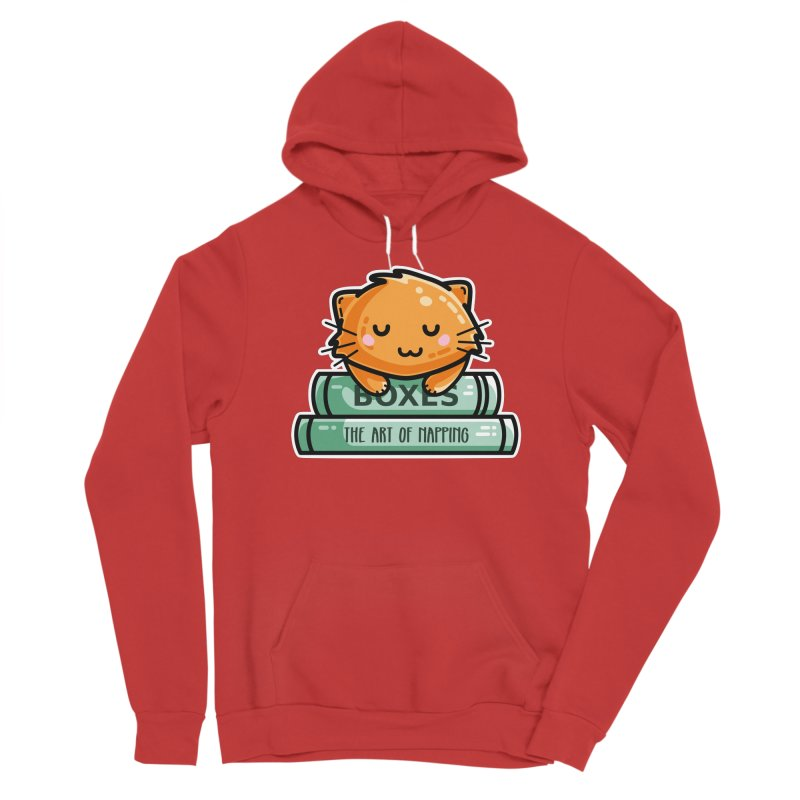 Cute Ginger Cat With Books Men's Pullover Hoody by Flaming Imp's Artist Shop