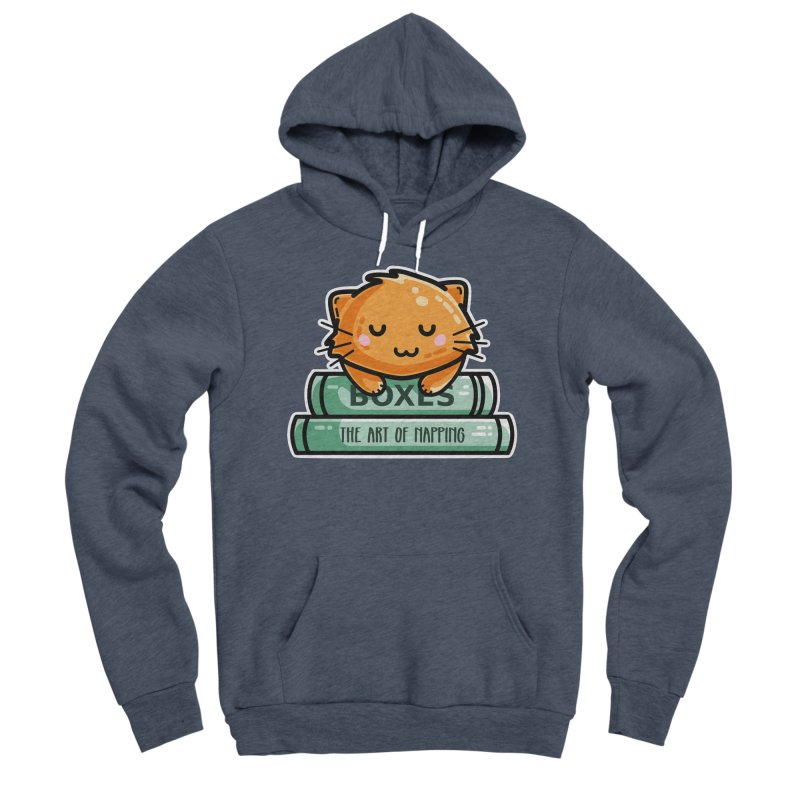 Cute Ginger Cat With Books Men's Sponge Fleece Pullover Hoody by Flaming Imp's Artist Shop