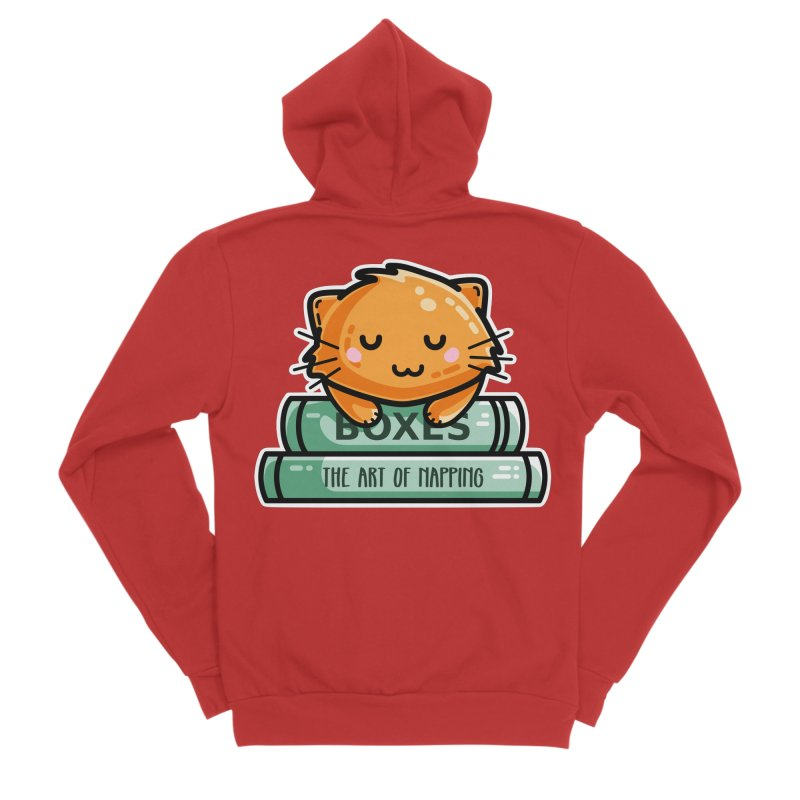 Cute Ginger Cat With Books Women's Zip-Up Hoody by Flaming Imp's Artist Shop