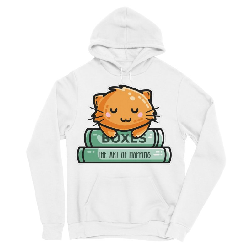 Cute Ginger Cat With Books Women's Sponge Fleece Pullover Hoody by Flaming Imp's Artist Shop