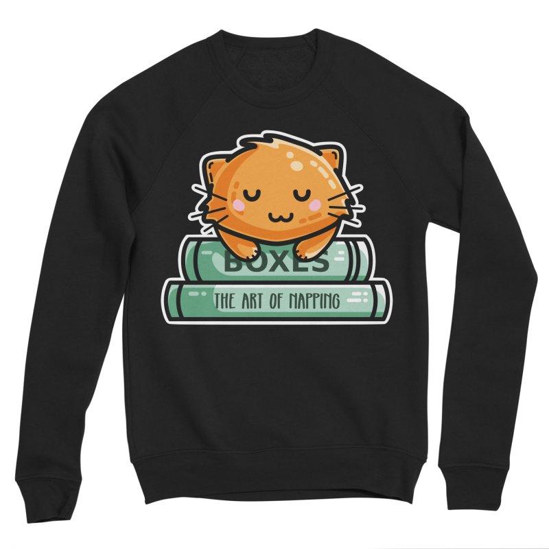 Cute Ginger Cat With Books Men's Sponge Fleece Sweatshirt by Flaming Imp's Artist Shop