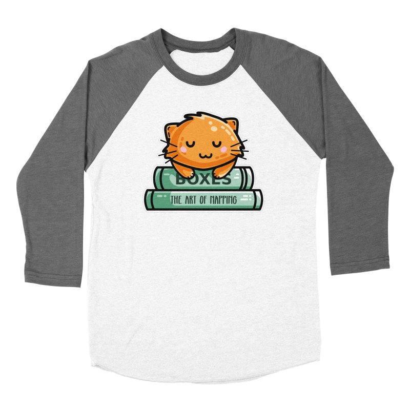 Cute Ginger Cat With Books Fitted Longsleeve T-Shirt by Flaming Imp's Artist Shop