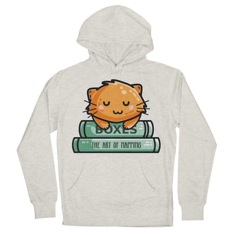 Cute Ginger Cat With Books Women's French Terry Pullover Hoody by Flaming Imp's Artist Shop