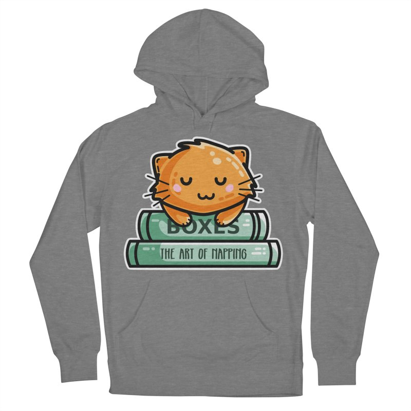 Cute Ginger Cat With Books Men's French Terry Pullover Hoody by Flaming Imp's Artist Shop