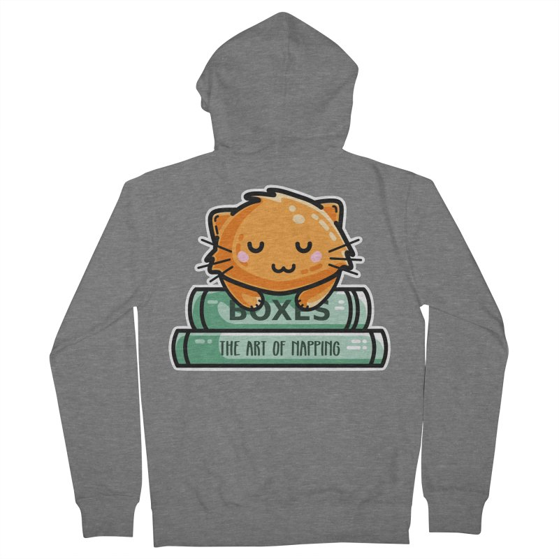 Cute Ginger Cat With Books Women's French Terry Zip-Up Hoody by Flaming Imp's Artist Shop