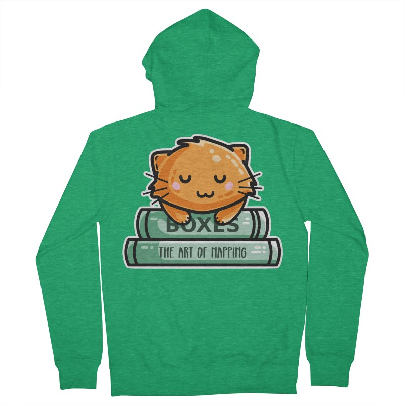 Cute Ginger Cat With Books Unisex Zip-Up Hoody by Flaming Imp's Artist Shop