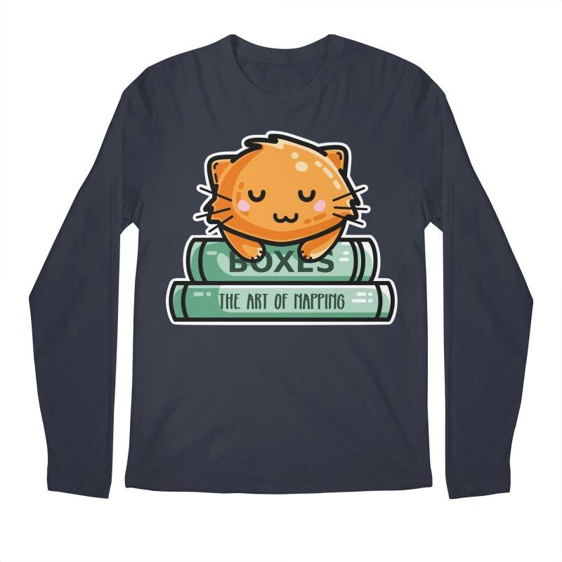 Cute Ginger Cat With Books Men's Regular Longsleeve T-Shirt by Flaming Imp's Artist Shop