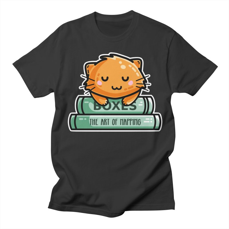Cute Ginger Cat With Books Men's T-Shirt by Flaming Imp's Artist Shop