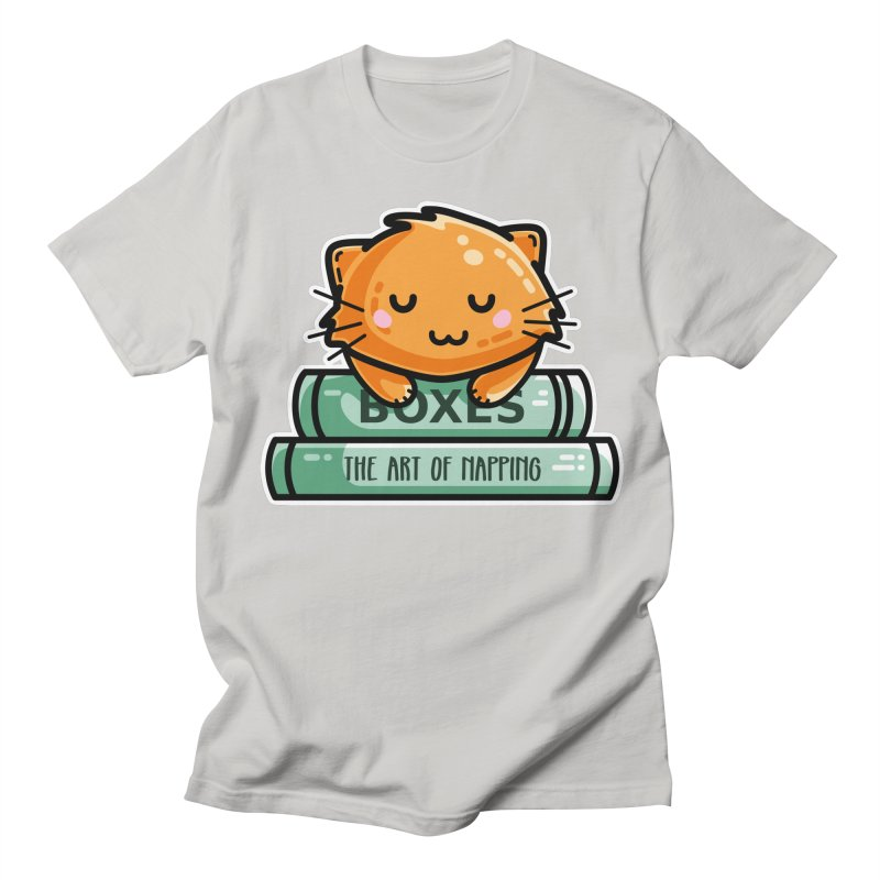 Cute Ginger Cat With Books Men's Regular T-Shirt by Flaming Imp's Artist Shop