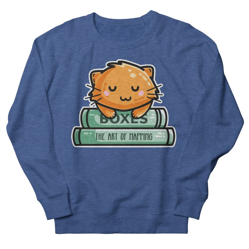 Cute Ginger Cat With Books Men's Sweatshirt by Flaming Imp's Artist Shop
