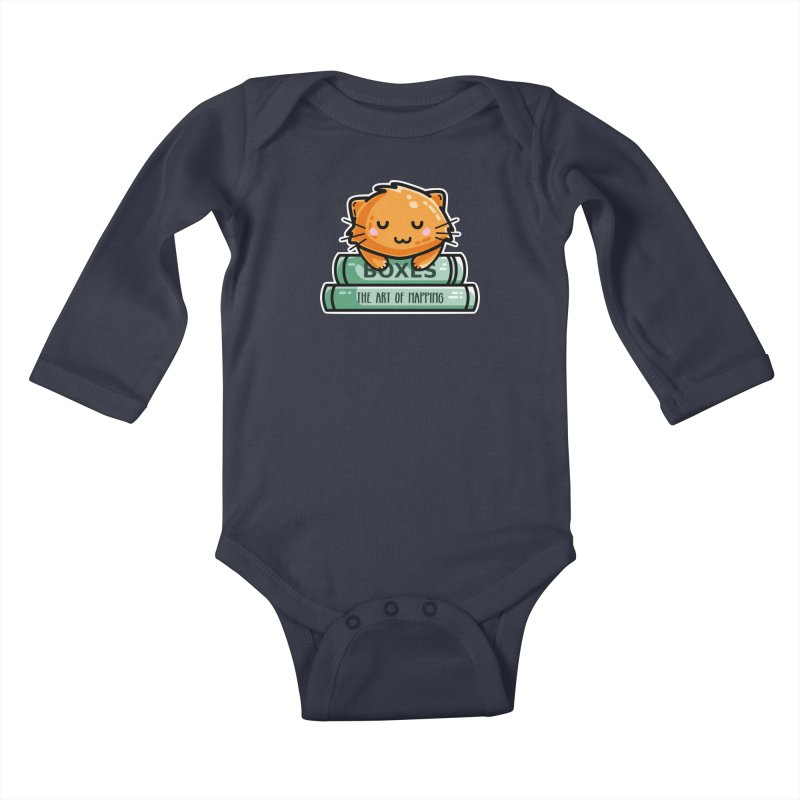 Cute Ginger Cat With Books Kids Baby Longsleeve Bodysuit by Flaming Imp's Artist Shop