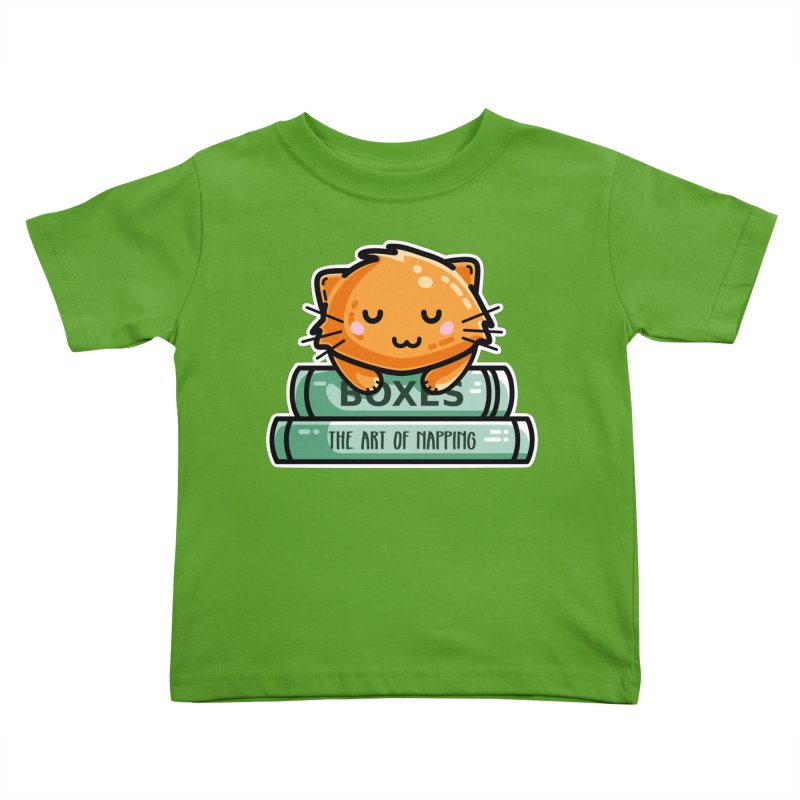 Cute Ginger Cat With Books Kids Toddler T-Shirt by Flaming Imp's Artist Shop