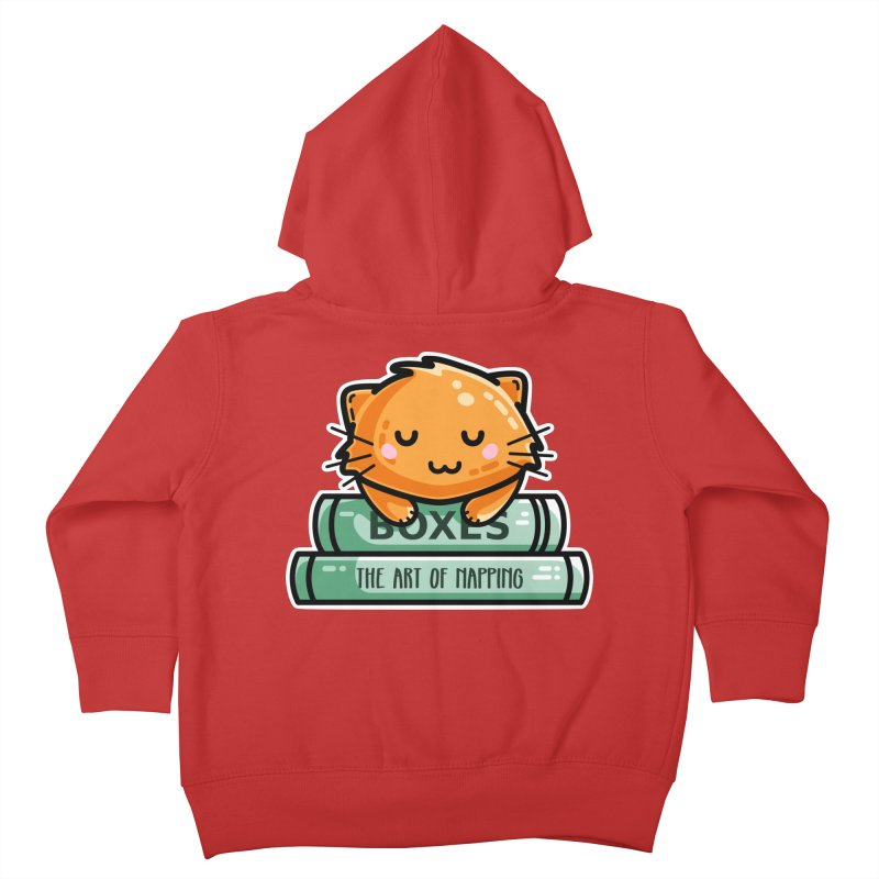 Cute Ginger Cat With Books Kids Toddler Zip-Up Hoody by Flaming Imp's Artist Shop