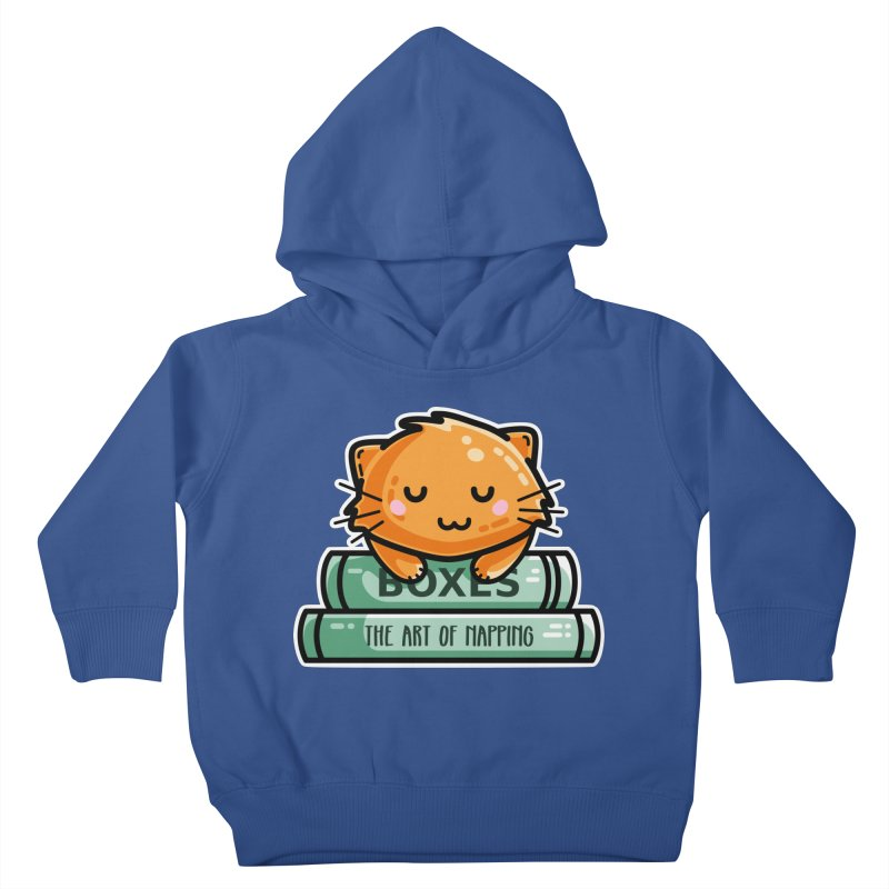 Cute Ginger Cat With Books Kids Toddler Pullover Hoody by Flaming Imp's Artist Shop