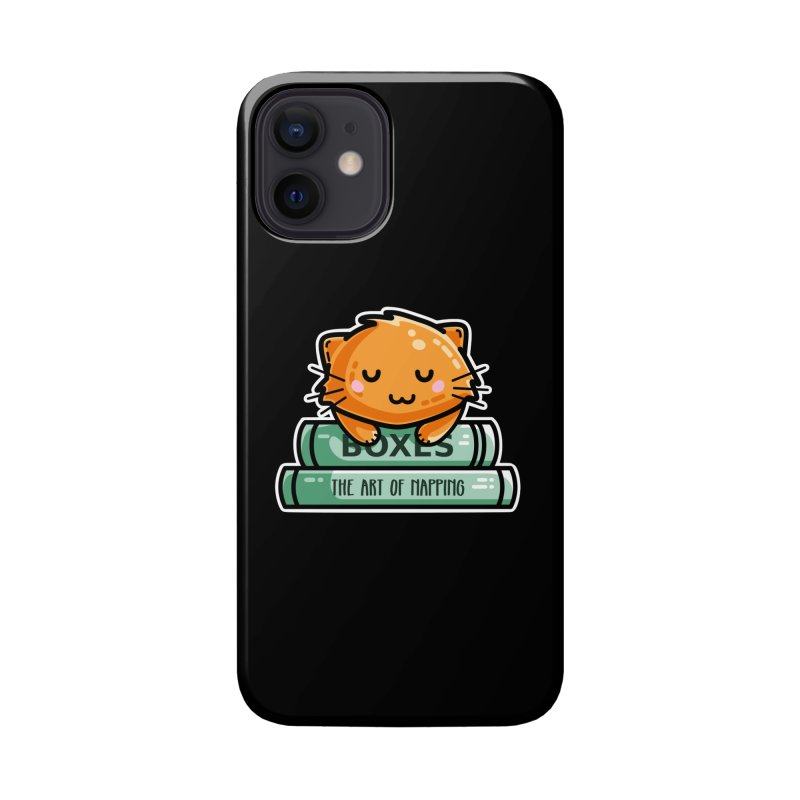 Cute Ginger Cat With Books Masks + Accessories Phone Case by Flaming Imp's Artist Shop