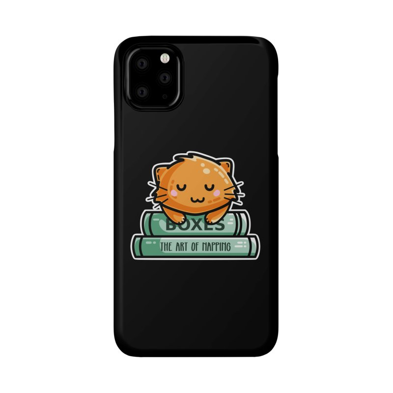 Cute Ginger Cat With Books Accessories Phone Case by Flaming Imp's Artist Shop