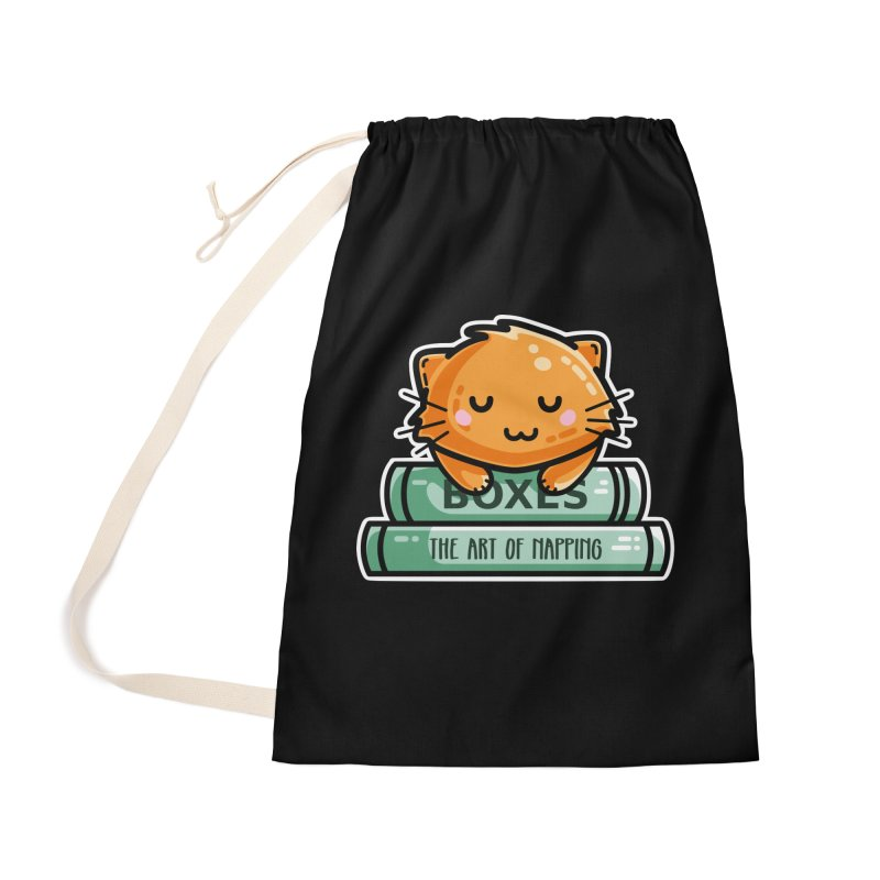 Cute Ginger Cat With Books Accessories Bag by Flaming Imp's Artist Shop