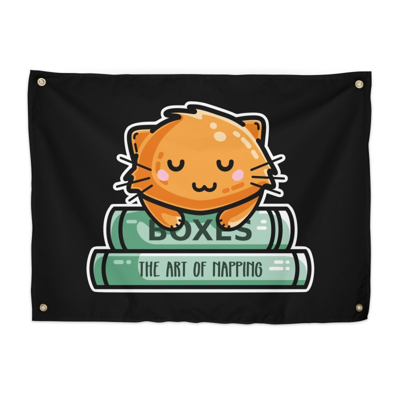 Cute Ginger Cat With Books Home Tapestry by Flaming Imp's Artist Shop