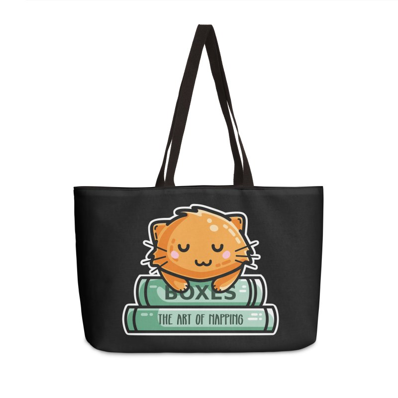 Cute Ginger Cat With Books Accessories Weekender Bag Bag by Flaming Imp's Artist Shop