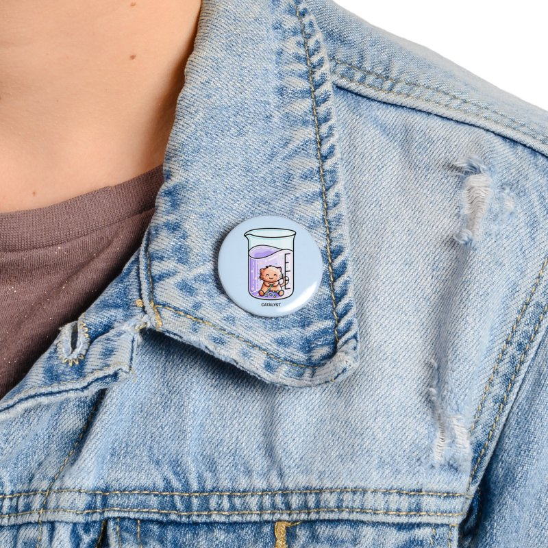 Catalyst Cute Chemistry Cat Pun Accessories Button by Flaming Imp's Artist Shop