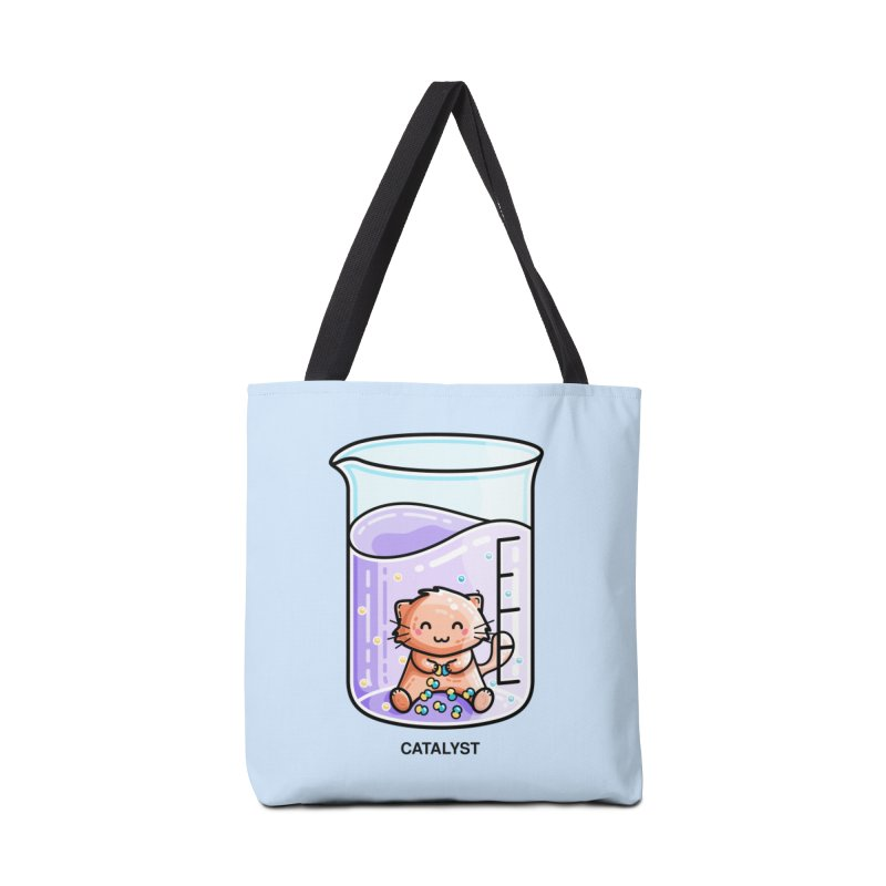 Catalyst Cute Chemistry Cat Pun Accessories Bag by Flaming Imp's Artist Shop