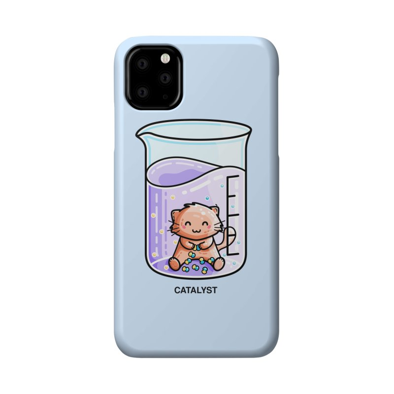 Catalyst Cute Chemistry Cat Pun Accessories Phone Case by Flaming Imp's Artist Shop