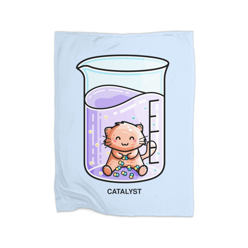 Catalyst Cute Chemistry Cat Pun Home Blanket by Flaming Imp's Artist Shop