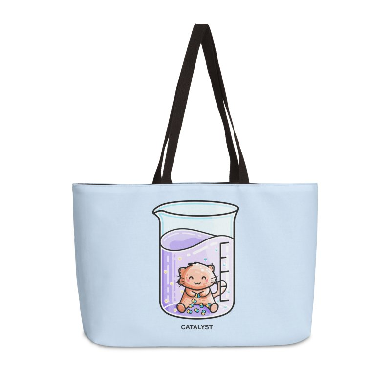 Catalyst Cute Chemistry Cat Pun Accessories Weekender Bag Bag by Flaming Imp's Artist Shop