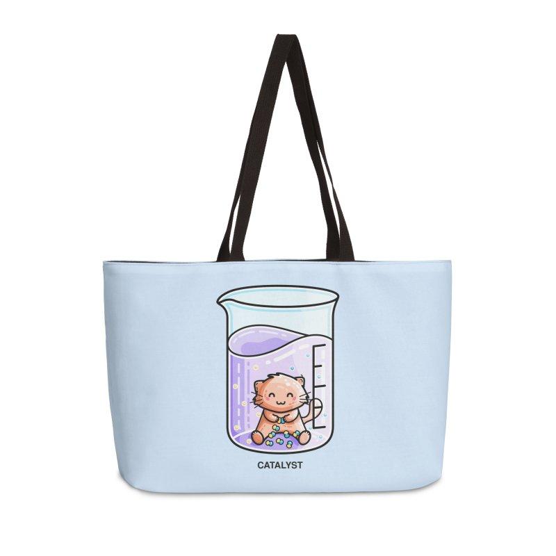 Catalyst Cute Chemistry Cat Pun Accessories Bag by Flaming Imp's Artist Shop
