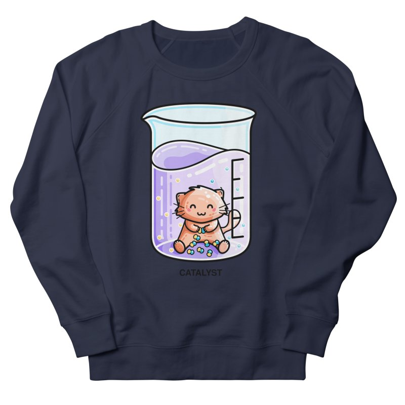 Catalyst Cute Chemistry Cat Pun Men's French Terry Sweatshirt by Flaming Imp's Artist Shop