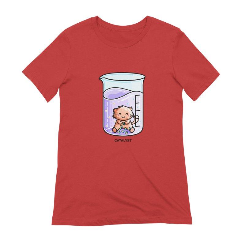 Catalyst Cute Chemistry Cat Pun Women's T-Shirt by Flaming Imp's Artist Shop