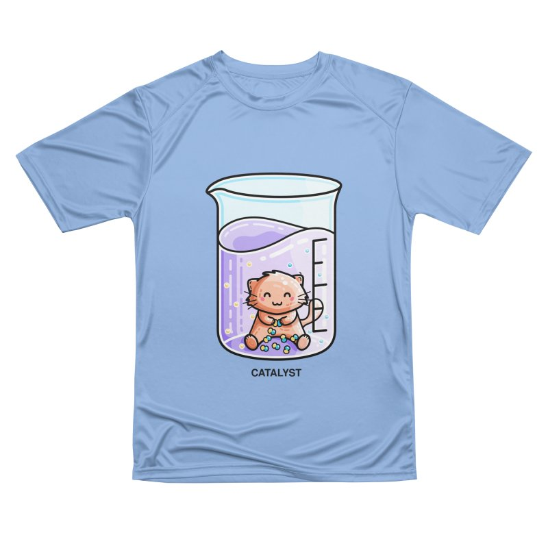 Catalyst Cute Chemistry Cat Pun Men's T-Shirt by Flaming Imp's Artist Shop