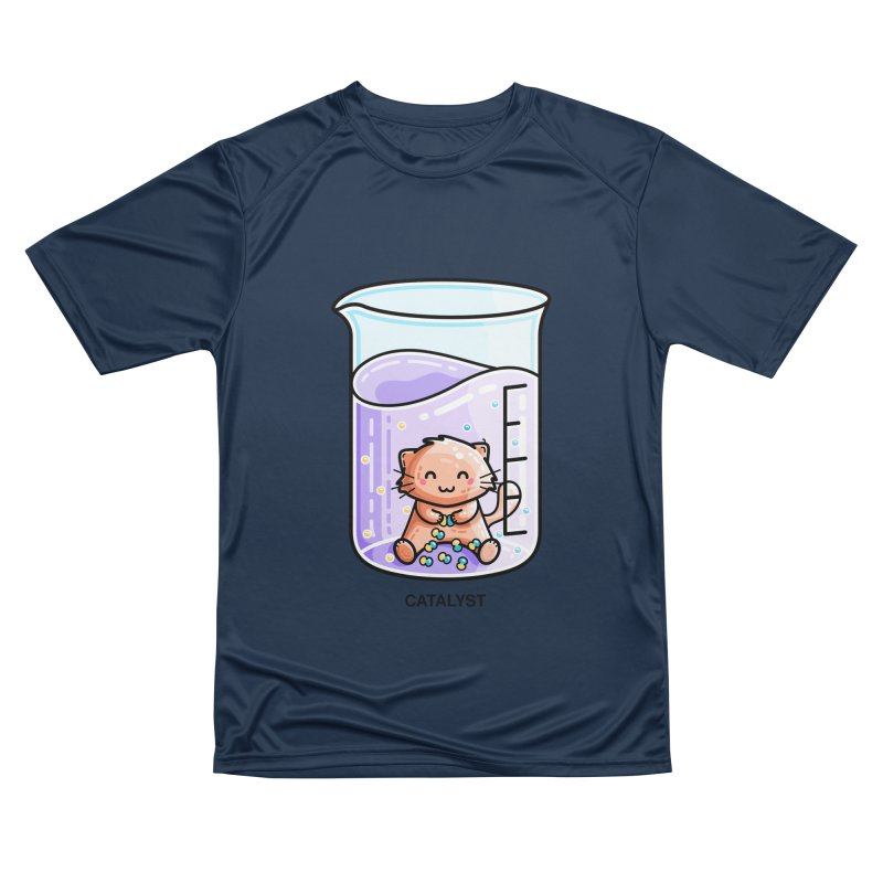 Catalyst Cute Chemistry Cat Pun Men's Performance T-Shirt by Flaming Imp's Artist Shop