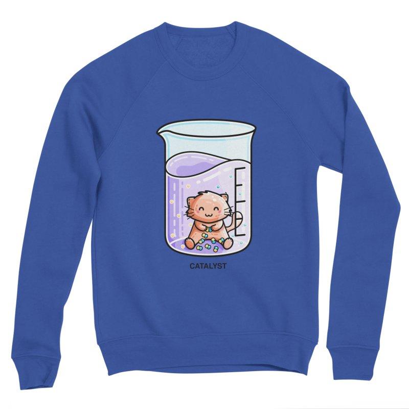 Catalyst Cute Chemistry Cat Pun Men's Sweatshirt by Flaming Imp's Artist Shop