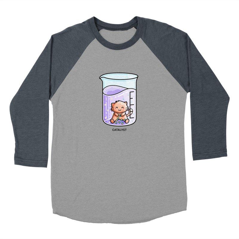 Catalyst Cute Chemistry Cat Pun Women's Baseball Triblend Longsleeve T-Shirt by Flaming Imp's Artist Shop