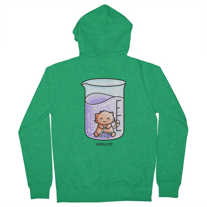 Catalyst Cute Chemistry Cat Pun Women's French Terry Zip-Up Hoody by Flaming Imp's Artist Shop