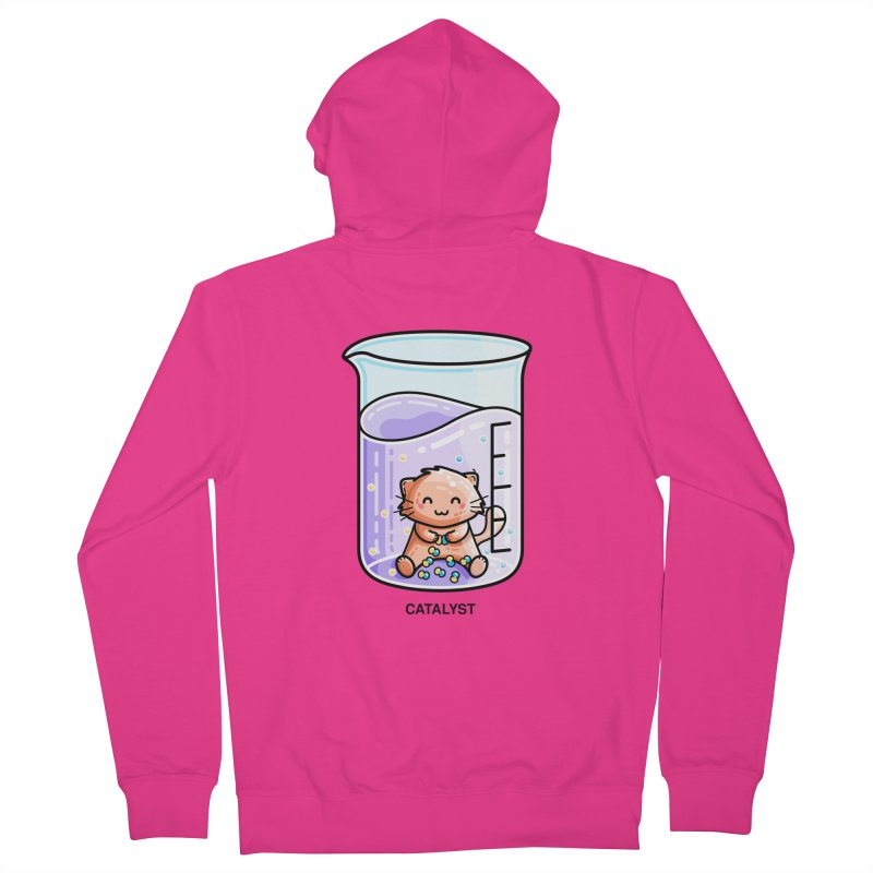 Catalyst Cute Chemistry Cat Pun Men's French Terry Zip-Up Hoody by Flaming Imp's Artist Shop
