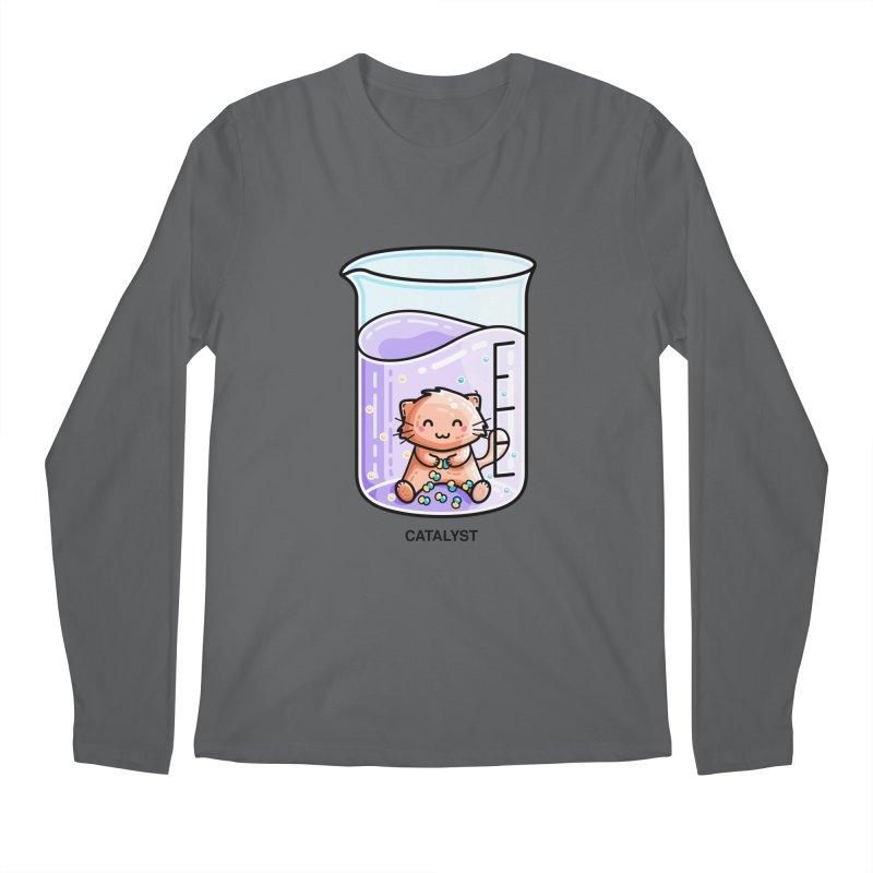 Catalyst Cute Chemistry Cat Pun Men's Longsleeve T-Shirt by Flaming Imp's Artist Shop