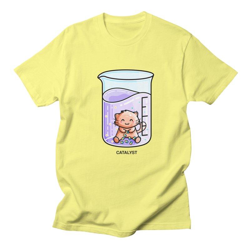 Catalyst Cute Chemistry Cat Pun Men's T-Shirt by Flaming Imp's Artist Shop