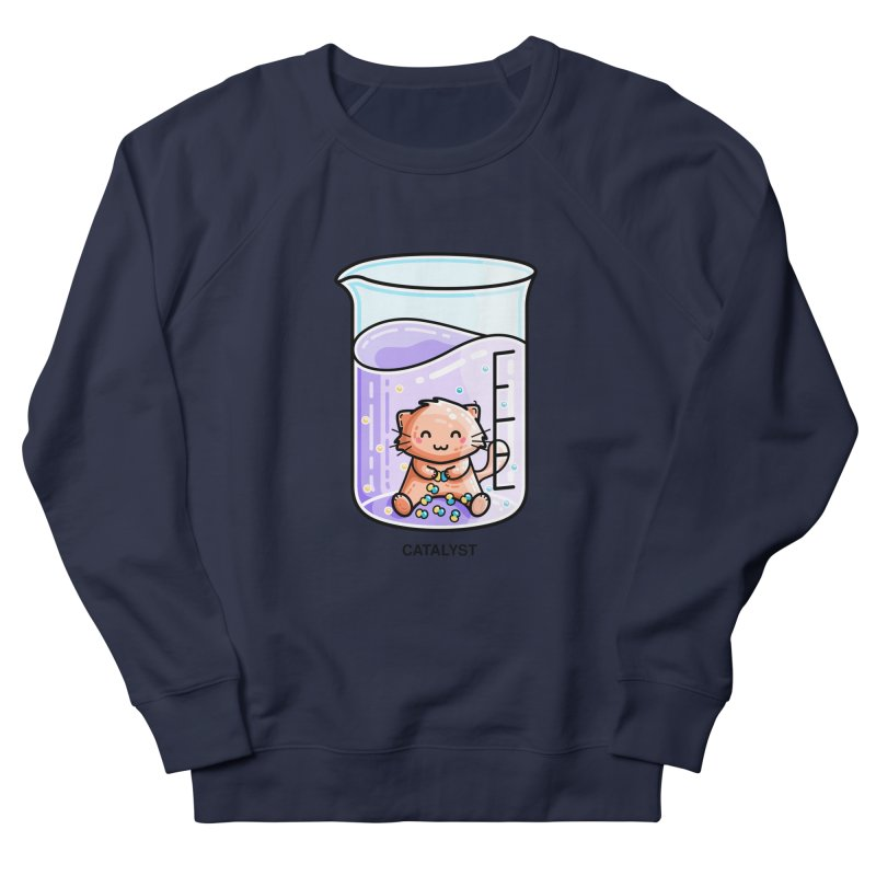 Catalyst Cute Chemistry Cat Pun Women's French Terry Sweatshirt by Flaming Imp's Artist Shop