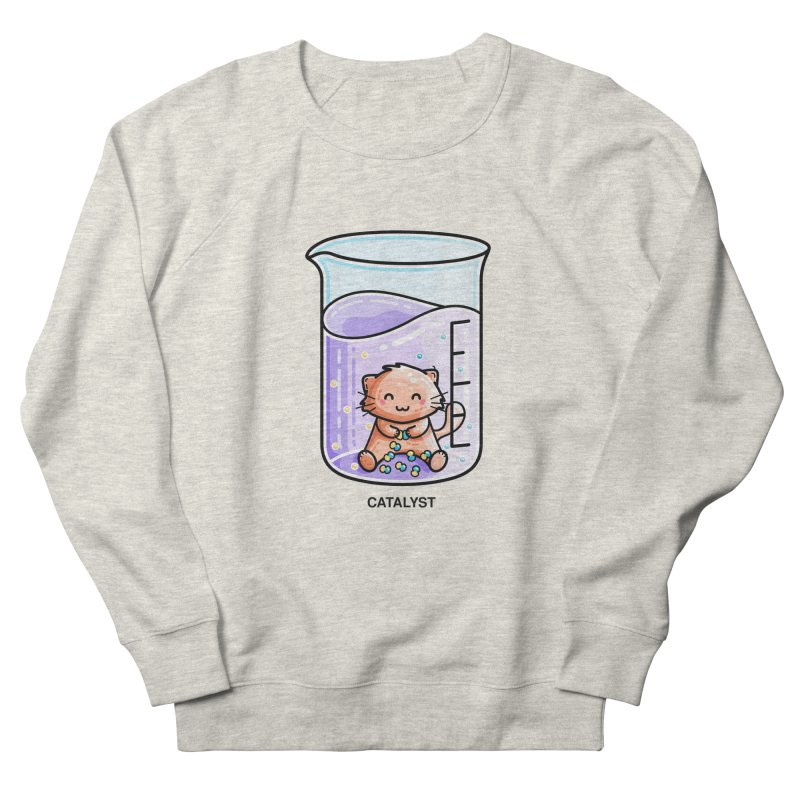 Catalyst Cute Chemistry Cat Pun Women's Sweatshirt by Flaming Imp's Artist Shop