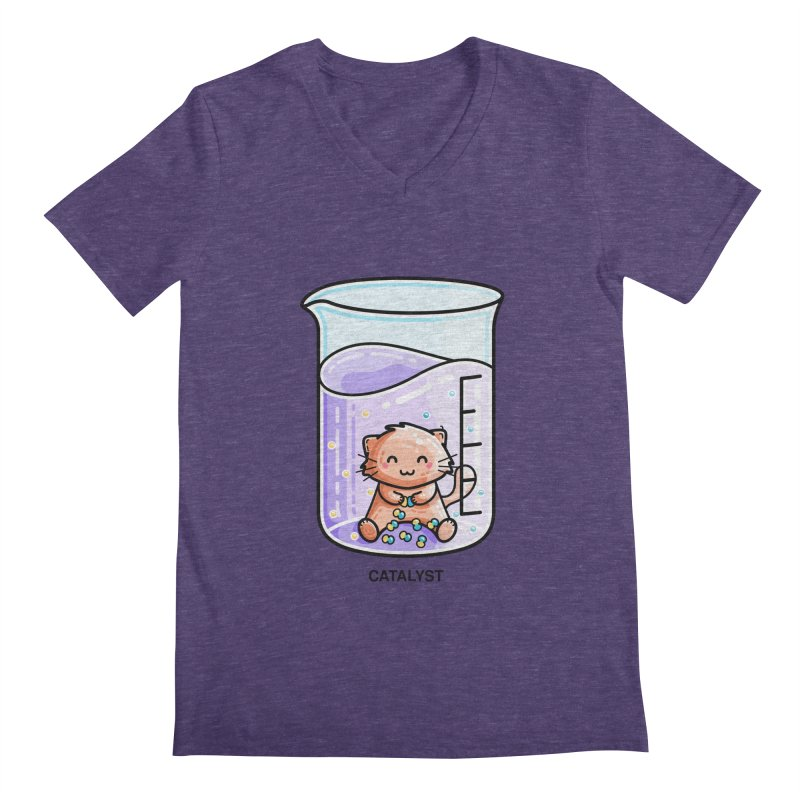 Catalyst Cute Chemistry Cat Pun Men's V-Neck by Flaming Imp's Artist Shop