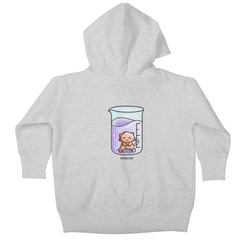 Catalyst Cute Chemistry Cat Pun Kids Baby Zip-Up Hoody by Flaming Imp's Artist Shop