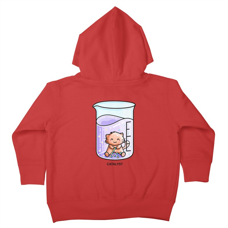 Catalyst Cute Chemistry Cat Pun Kids Toddler Zip-Up Hoody by Flaming Imp's Artist Shop