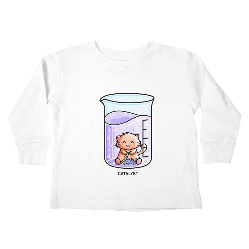 Catalyst Cute Chemistry Cat Pun Kids Toddler Longsleeve T-Shirt by Flaming Imp's Artist Shop