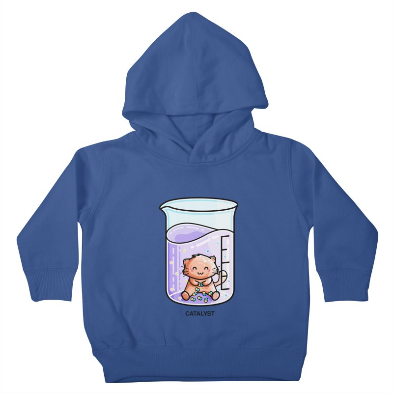 Catalyst Cute Chemistry Cat Pun Kids Toddler Pullover Hoody by Flaming Imp's Artist Shop