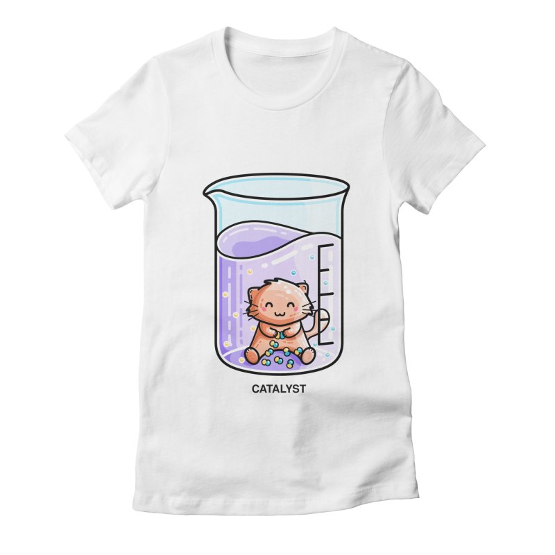 Catalyst Cute Chemistry Cat Pun Women's T-Shirt by Flaming Imp's Artist Shop