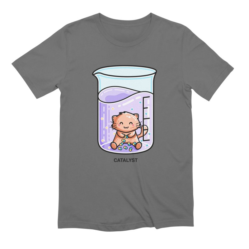 Catalyst Cute Chemistry Cat Pun Unisex T-Shirt by Flaming Imp's Artist Shop