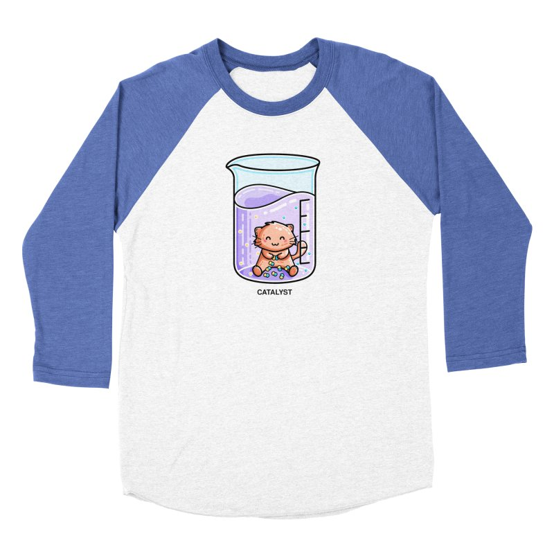 Catalyst Cute Chemistry Cat Pun Fitted Longsleeve T-Shirt by Flaming Imp's Artist Shop