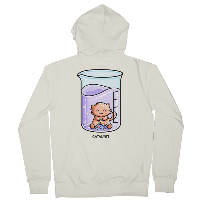 Catalyst Cute Chemistry Cat Pun Fitted Zip-Up Hoody by Flaming Imp's Artist Shop